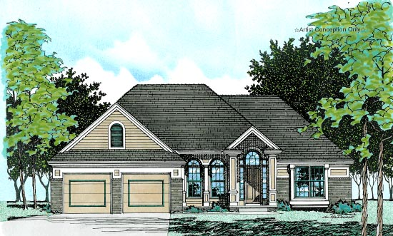 European House Plan 99487 Elevation