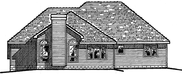 European House Plan 99487 Rear Elevation