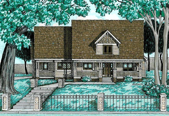 Bungalow Country House Plan 99492 Elevation