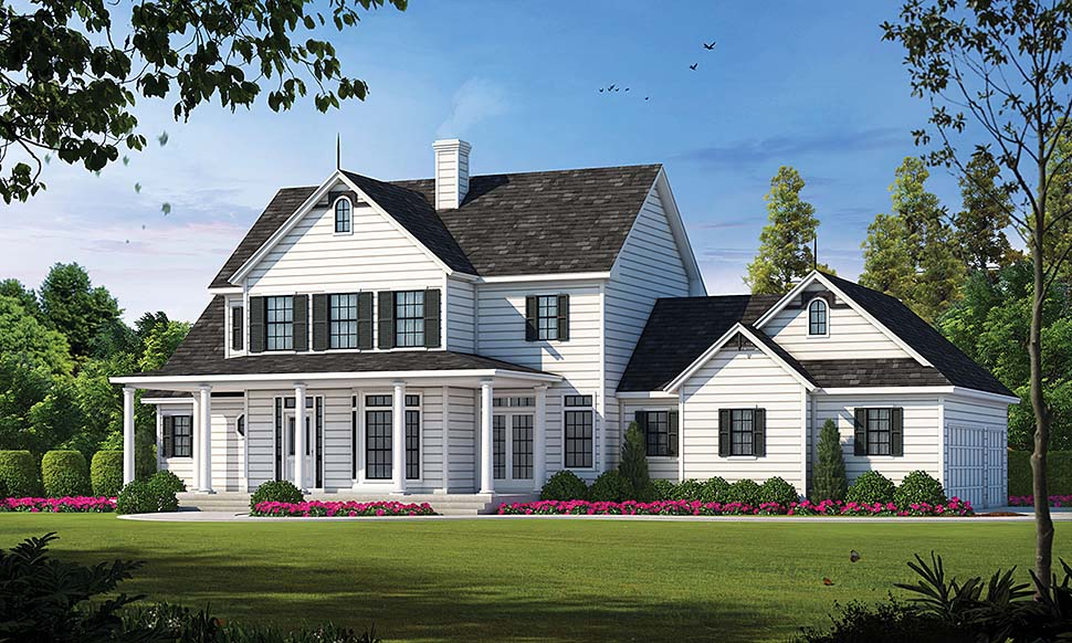 Country House Plan 99495 with 3 Beds, 3 Baths, 3 Car Garage Elevation