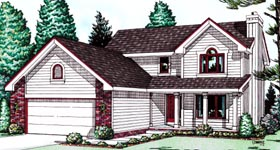 Country House Plan 99497 with 3 Beds, 3 Baths, 2 Car Garage Elevation