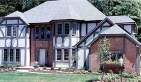 House Plan 99605 | European Tudor Style Plan with 2768 Sq Ft, 4 Bedrooms, 3 Bathrooms, 2 Car Garage Elevation