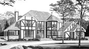 European Tudor House Plan 99605
