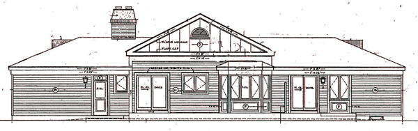 Ranch House Plan 99610 Rear Elevation