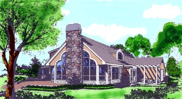 Coastal, Contemporary House Plan 99618 with 4 Beds, 2 Baths, 2 Car Garage Elevation