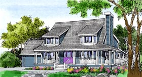 Contemporary , Country , Farmhouse House Plan 99620 with 4 Beds, 3 Baths, 2 Car Garage Elevation