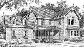 Victorian , Traditional , Southern , Country House Plan 99624 with 4 Beds, 3 Baths, 2 Car Garage Elevation