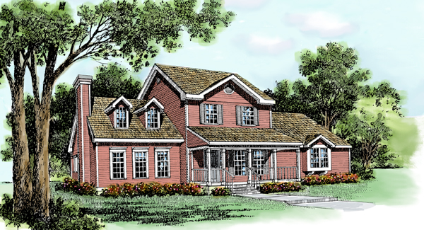 Country Craftsman Farmhouse Traditional House Plan 99626 Elevation