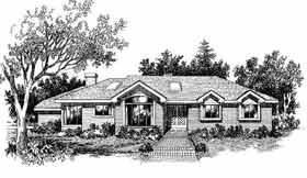 European Ranch House Plan 99634 Elevation