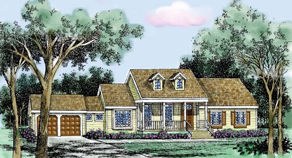 Country Farmhouse Traditional House Plan 99635 Elevation