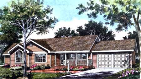 Country Farmhouse Traditional House Plan 99639 Elevation