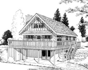 A-Frame Cabin House Plan 9964 Elevation