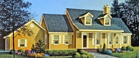 Country Farmhouse Southern Traditional House Plan 99641 Elevation
