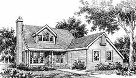 Bungalow, Country House Plan 99646 with 4 Beds, 2 Baths, 2 Car Garage Elevation