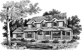 Country House Plan 99648 with 4 Beds, 3 Baths, 2 Car Garage Elevation