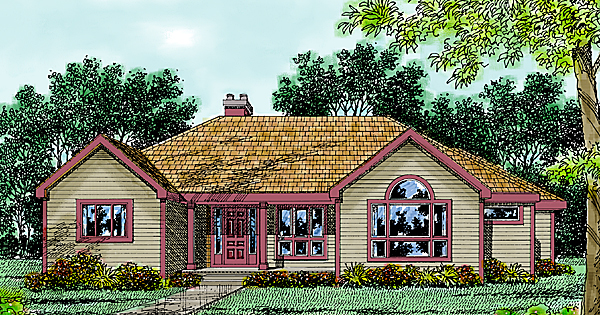 Contemporary Farmhouse House Plan 99654 Elevation