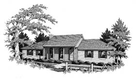 Ranch House Plan 99660 Elevation