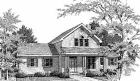 House Plan 99665 | Country Farmhouse Traditional Style Plan with 1805 Sq Ft, 3 Bedrooms, 3 Bathrooms, 2 Car Garage Elevation