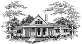 Country European House Plan 99666 Elevation