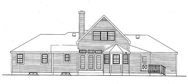 Country European House Plan 99666 Rear Elevation