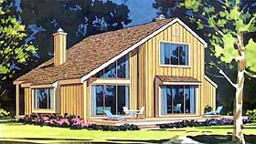 Coastal Contemporary House Plan 99675 Elevation