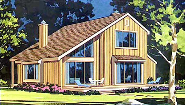 Coastal Contemporary Elevation of Plan 99675