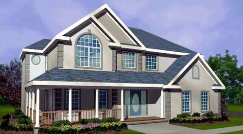 Country, Mediterranean, Southern, Traditional House Plan 99677 with 4 Beds, 3 Baths, 2 Car Garage Elevation