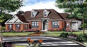 Cape Cod , European House Plan 99678 with 3 Beds, 3 Baths, 2 Car Garage Elevation