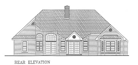 Country European House Plan 99679 Rear Elevation
