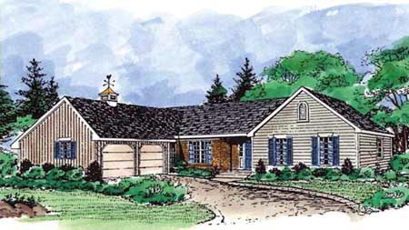 Country Farmhouse Traditional House Plan 99681 Elevation