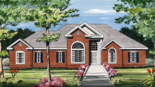 European, House Plan 99682 with 3 Beds, 2 Baths, 2 Car Garage