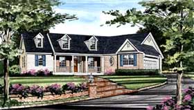 Country Farmhouse Southern Traditional House Plan 99684 Elevation
