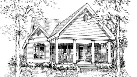 Ranch Traditional House Plan 99694 Rear Elevation