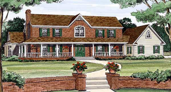 Country Southern House Plan 99698 Elevation