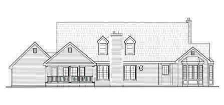 Country Southern House Plan 99698 Rear Elevation
