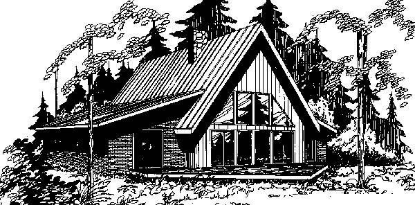 A-Frame Contemporary House Plan 99705 Elevation