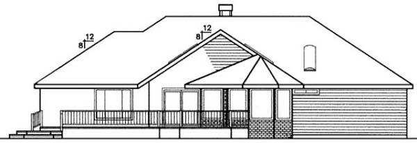 European Ranch House Plan 99712 Rear Elevation