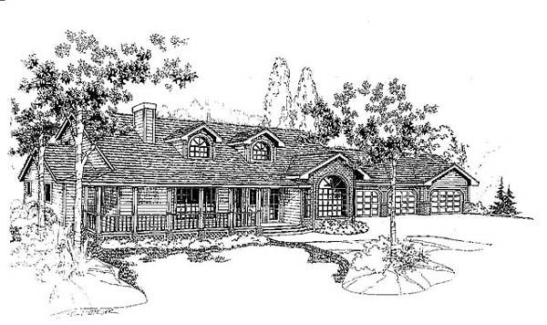 Cape Cod European Ranch House Plan 99713 Elevation