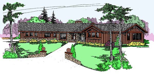 Bungalow Ranch House Plan 99721 Elevation