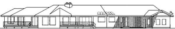 Bungalow Ranch House Plan 99721 Rear Elevation