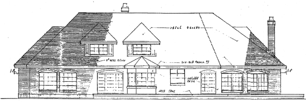 Colonial European House Plan 99746 Rear Elevation