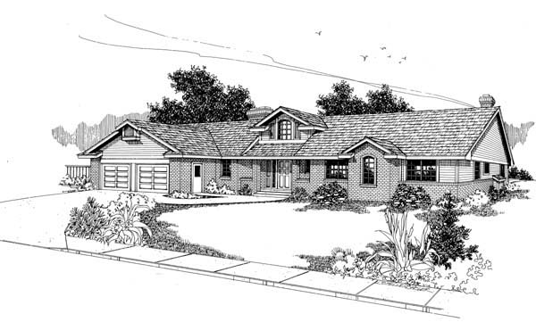 Ranch House Plan 99747 Elevation