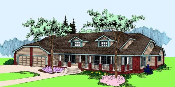 Bungalow House Plan 99768 Elevation