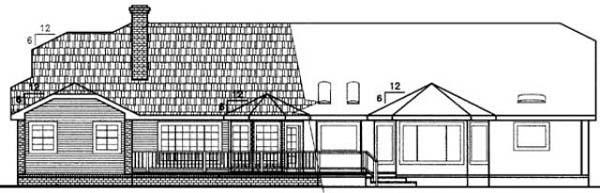 Bungalow House Plan 99768 Rear Elevation