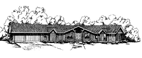 Ranch House Plan 99769 Elevation