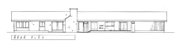 Ranch House Plan 99769 Rear Elevation