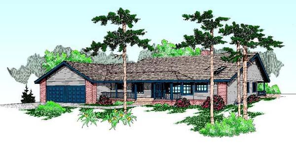 Ranch House Plan 99776 Elevation