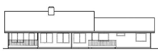 Ranch House Plan 99776 Rear Elevation