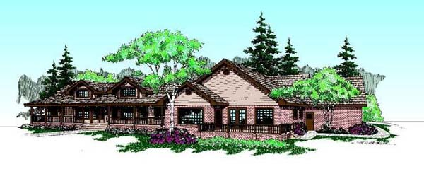 Ranch House Plan 99777 Elevation