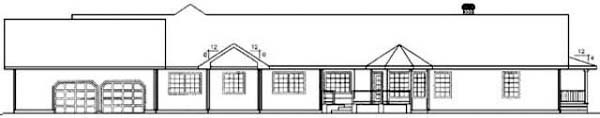 Ranch House Plan 99777 Rear Elevation